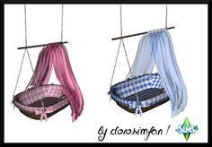 Hanging cradle for babies by dorosimfan1 at Sims Marktplatz via Sims 4 Updates