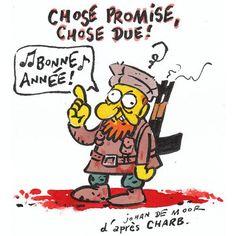 Dessin hommage à Charlie Hebdo - Johan De Moor
