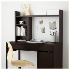 MICKE Add-on unit-high - black-brown - IKEA (desks for kids) Furniture Logo, Cheap Furniture, Office Furniture, Home Furniture, Furniture Movers, Ikea Micke, Study Table Designs, Desk Shelves, Desk Storage