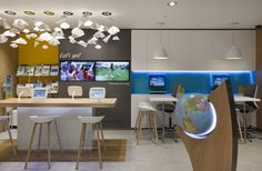 Thomas Cook store at Lakeside Shopping Centre by Wanda Creative, UK travel agency