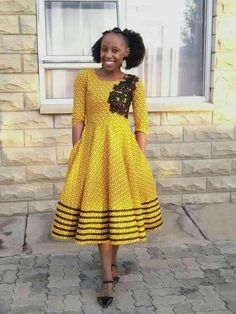 Exclusive Shweshwe fashion dresses trend Shweshwe Dresses for Women Dresses for Bridesma South African Fashion, African Print Fashion, Africa Fashion, African Fashion Dresses, African Prints, African Outfits, Ankara Fashion, Xhosa Attire, African Attire