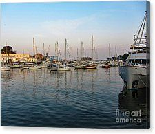 A Harbor At Camden Maine Canvas Print by Bill Hayes