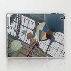 So Let's Spend The Afternoon In a Cold Hot Air Balloon Laptop & iPad Skin by Sarah Zanon - $25.00