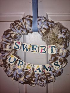 Finger Knitted Baby Wreath