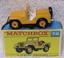 72 B VERY, VERY RARE MIB MATCHBOX LESNEY (UNLISTED) JEEP (CJ5) w/WHITE INTERIOR