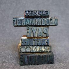 Vintage French desk stamp office starter by MademoiselleChipotte, $34.95