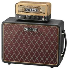 Vox Lil' Night Train NT2 Gold Set | Authentic VOX all-tube tone in a stylish and ultra-compact 2-watt head - Two 12AX7 preamp vacuum tubes; single 12AU7 power tube - 10-inch Celestion VX speaker.