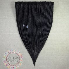 This is custom work crocheted black DE Dreadlock hair extensions for L  Wonderfully crocheted and nice texture  Thank you so much. ✈  You can request custom order also with different colours combinations. HiLovely people come and look around our updating works. www.etsy.com/SiberianDreads/updates I and husband are great team and take pride in our work and have responsible.. Check our work and get in touch us.  www.etsy.com/shop/SiberianDreads