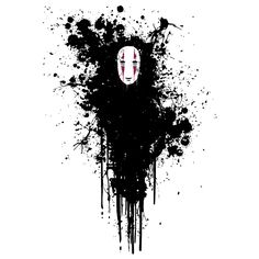 Kaonashi,No-Face - Spirited Away,Studio Ghibli// i know it's a sticker or whatever but this would make such a good tattoo!!