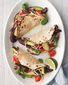 Portobello-and-Zucchini Tacos