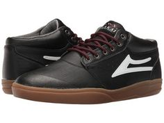 Lakai - Griffin Mid XLK (Black/Gum Synthetic) Men's Skate Shoes