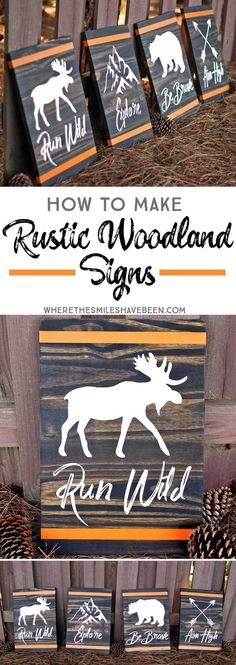 How to Make Rustic Woodland Signs DIY Wood Signs Rustic Signs Woodland Diy Wood Projects, Woodworking Projects, Projects To Try, Woodworking Plans, Woodworking Furniture, Diy Projects For Men, Woodworking Basics, Popular Woodworking, Woodworking Videos