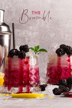 The sweet, sharp blackberry provides ample opportunities for yummy recipes, from crumbles and tarts to this: the ultimate blackberry gin and tonic. Rum Cocktail Recipes, Gin Recipes, Cocktails, Cocktail Drinks, Alcoholic Drinks, Yummy Recipes, Beverages, Blackberry Gin, Blackberry Crumble