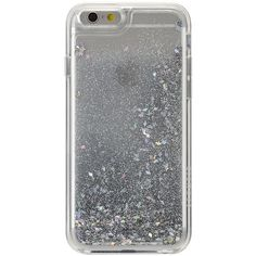 Agent18 Silver Glittershield iPhone 6/6S Case ($15) ❤ liked on Polyvore featuring accessories, tech accessories, electronics, phonecase, silver, tech and agent 18