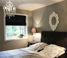 lady grå harmoni - Google Search Fixer Upper Paint Colors, Jotun Lady, My Themes, Valance Curtains, Pattern Design, Colours, Bedroom, Grey, Modern