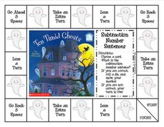 subtraction game with halloween book