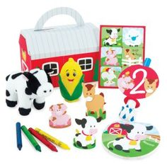 Barnyard birthday favor box! Cute!