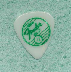 Fender Glo vintage guitar pick green logo NOS new old stock #Fender #GuitarPick