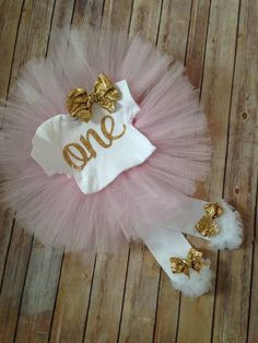 Pink and Gold First Birthday Outfit/Girls First Birthday Outfit/Gold One 1st Birthday Outfit/First Birthday Outfit Girl