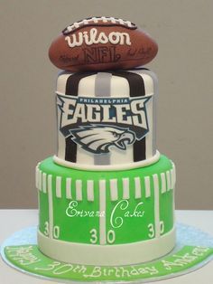Football Groom Cakes - Bitsy Bride Cute idea, never thought of having a groom's cake before.