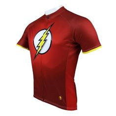 cbd635a7f Red The Flash Mens Short Sleeve cycling jersey Perfect Perspiration  Breathable mountain clothing bike top Mens