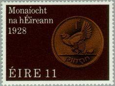 Stamp: Coins (Ireland) (50th Anniv. of Irish Currency) Mi:IE 386,Sn:IE 438,Sg:IE 431,AFA:IE 393