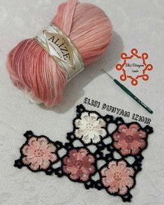 Bu Modele De Beraber Is - Diy Crafts Gilet Crochet, Crochet Fabric, Crochet Motifs, Crochet Squares, Crochet Doilies, Crochet Flowers, Crochet Stitches, Crochet Baby, Knit Crochet