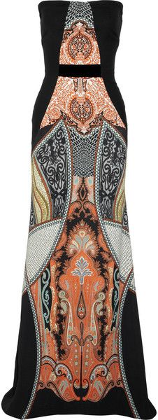 ETRO Strapless Printed Gown - Lyst