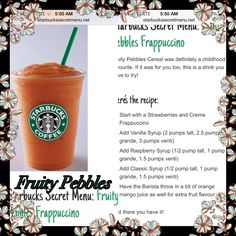 Starbucks secret recipes! #starbucks #frappacino #coffee Best Non Alcoholic Drinks, Drinks Alcohol Recipes, Yummy Drinks, Cold Drinks, Starbucks Secret Menu Items, Starbucks Secret Menu Drinks, Starbucks Hacks, Starbucks Refreshers, Frappuccino Recipe