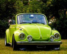 '73 1303 Super Beetle Cabriolet in original Ravenna Green color..