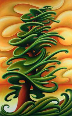 Light Winds by Dana Irving #tree #art