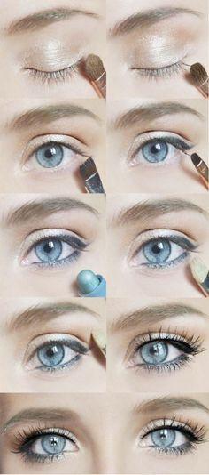 Easy And Simple Eye Makeup TutorialA simple eye makeup tutorial For daily makeup. - - Easy And Simple Eye Makeup TutorialA simple eye makeup tutorial For daily makeup. Romantic Eye Makeup, Subtle Eye Makeup, Beautiful Eye Makeup, Blue Eye Makeup, Eye Makeup Tips, Smokey Eye Makeup, Makeup Hacks, Smokey Eyes, Mac Makeup