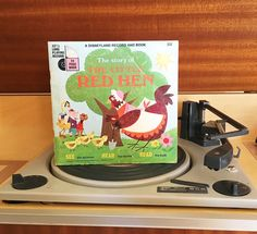 $10 Vintage 1968 The Story of the Little Red Hen by Disneyland Records - Story Book and Vinyl Record / Walt Disney Productions by V1NTA6EJO