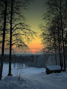 Hiver Neige En snöig vinter i Falun, Sverige Winter Szenen, Winter Sunset, Winter Cabin, Winter Time, Beautiful Places, Beautiful Pictures, Beautiful Sunset, Beautiful Friend, Beautiful Scenery