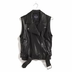 Madewell Tour Leather Vest XS #Madewell