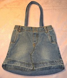 Toddler Size Denim Jeans Grocery-Shopping Bag,Unique One of a Kind Creations offered by crafts4thecure on etsy #crafts4thecureonetsy