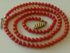Coral, Beaded Necklace, Accessories, Jewelry, Antique Necklace, Jitter Glitter, Necklaces, Beaded Collar, Jewlery