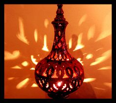 . A gorgeous Tunisian lamp with Moroccan influence.