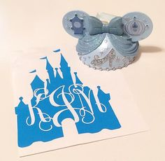 One (1) princess castle vinyl monogram. You pick the colors and the size! Perfect for smooth surfaces such as car windows, laptops, cell