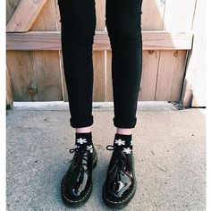 WEBSTA @ drmartensofficial - Docs and Socks: the 1461 shoe in Patent Lamper. Shared by @celinawithac #drmartenstyle