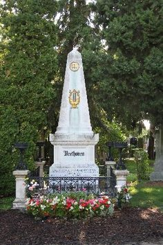 Beethoven Tombstone in Central Cemetery (Zentralfriedhof) (Vienna, Austria). The largest cemetary in Europe. Headstone Inscriptions, Autumn Rain, Heart Of Europe, Online Tickets, European Travel, Cemetery, Adventure Travel, Trip Advisor, Stuff To Do