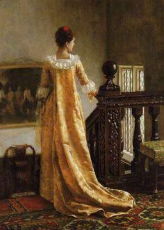 """The Golden Train"" by Edmund Blair Leighton (1891)"