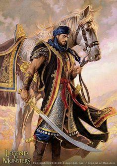 Répertoire Image Fantasy - Page 741 Fantasy Warrior, Fantasy Male, Fantasy Rpg, Medieval Fantasy, Fantasy Artwork, Fantasy World, Character Portraits, Character Art, Arabian Knights