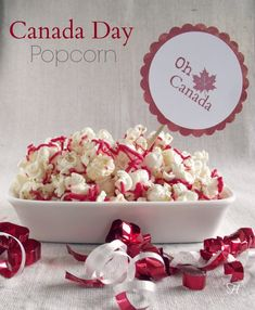 Canada Day Popcorn via How Lovely It Is Canada Day 150, Happy Canada Day, Visit Canada, Canada Day Crafts, Vancouver, Canada Day Party, Air Popper, Backpacking Canada, Deserts