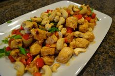 Rachel Rays Cashew Chicken. This is one of my favorite go to meals!