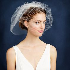 TWIGS & HONEY® FULL BIRDCAGE VEIL || Portland-based Myra Callan started Twigs & Honey when she was planning her own wedding and now offers her fresh and modern interpretation of hair adornments to brides and non-brides alike.
