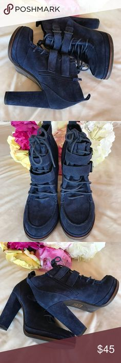 """Dolce Vita Blue Suede Boots """"Wyatt"""" Blue suede boots. Size 8M, 4"""" heels Dolce Vita Shoes"""