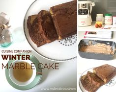 Winter Marble Cake made with Cuisine Companion (recipe in English and French).