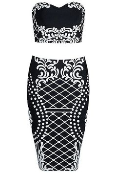 Now avaliable on our store !!! http://www.pendantandcharms.co.uk/products/black-white-floral-print-bandeau-crop-top-bodycon-midi-skirt-2pcs-bodycon-bandage-dress?utm_campaign=social_autopilot&utm_source=pin&utm_medium=pin