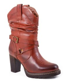 Take a look at this Red Boot - Women on zulily today!